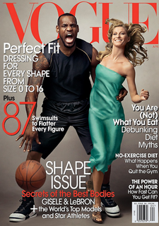 Vogue US, ao lado do astro do basquete LeBron James