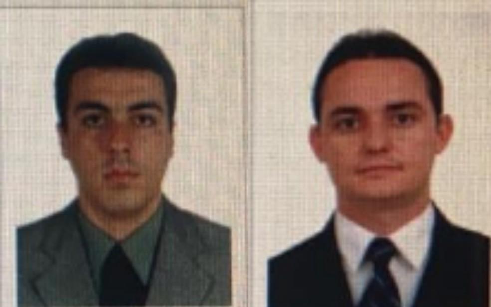 Da esquerda para a direita, advogados Marcus Aprígio Chaves e Frank Alessandro Carvalhaes de Assis — Foto: Reprodução/OAB-GO