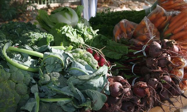Feira de alimentos orgânicos no Rio