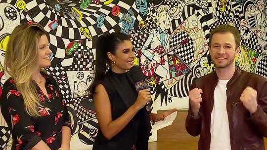 Tiago Leifert e Daiana Garbin se enfrentam em quiz nos bastidores do 'Domingão'