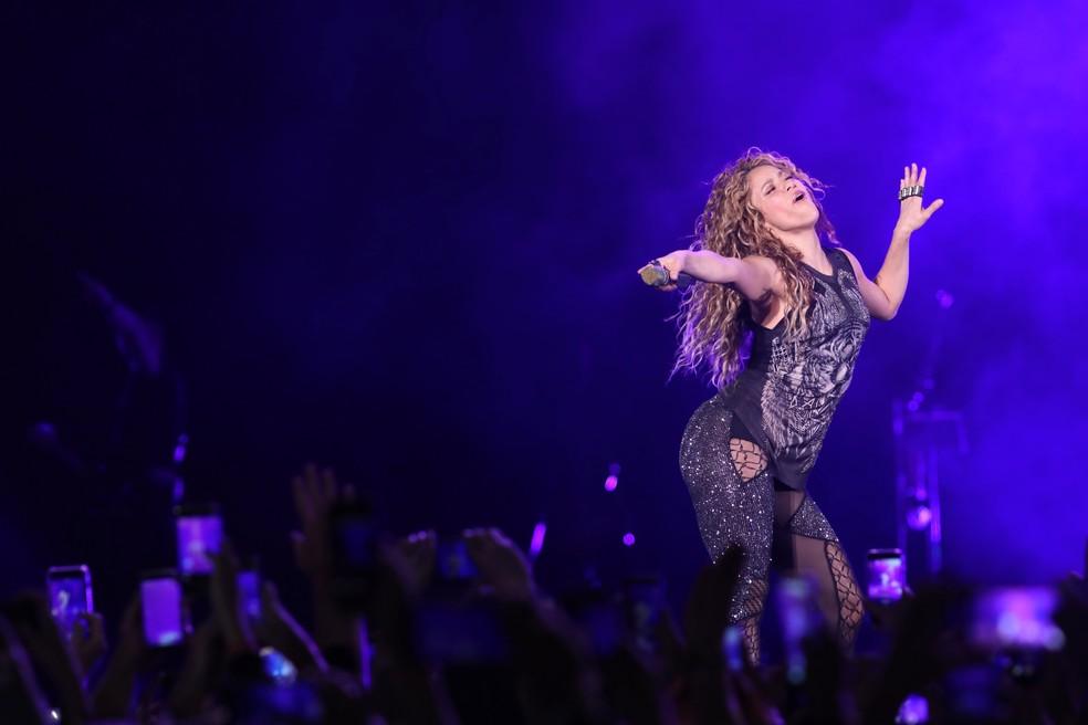 Shakira faz show em São Paulo — Foto: Celso Tavares / G1