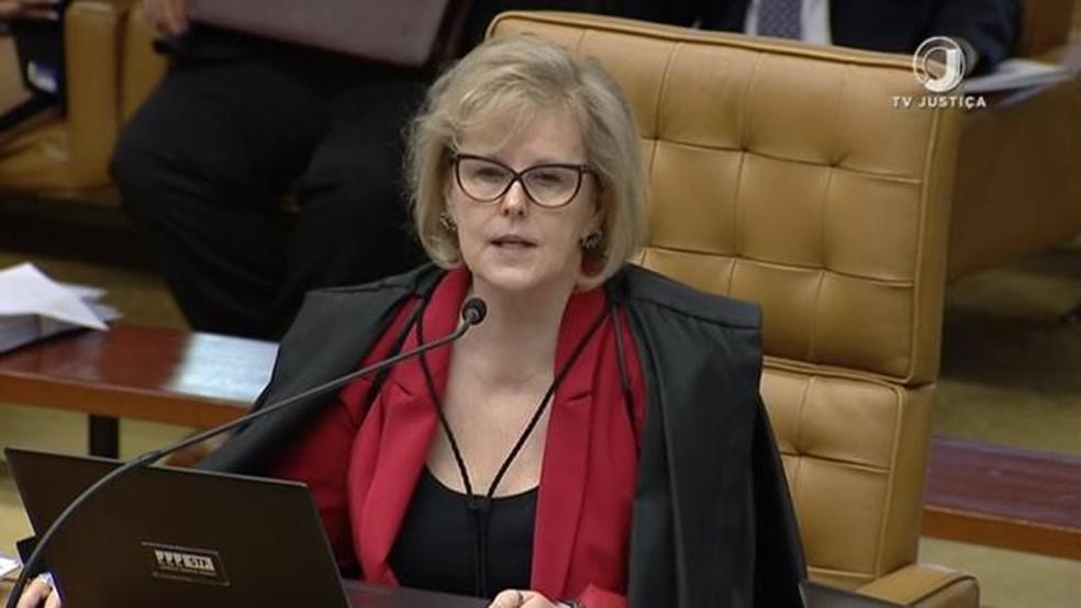 A ministra do Supremo Tribunal Federal Rosa Weber — Foto: Reprodução/TV Justiça