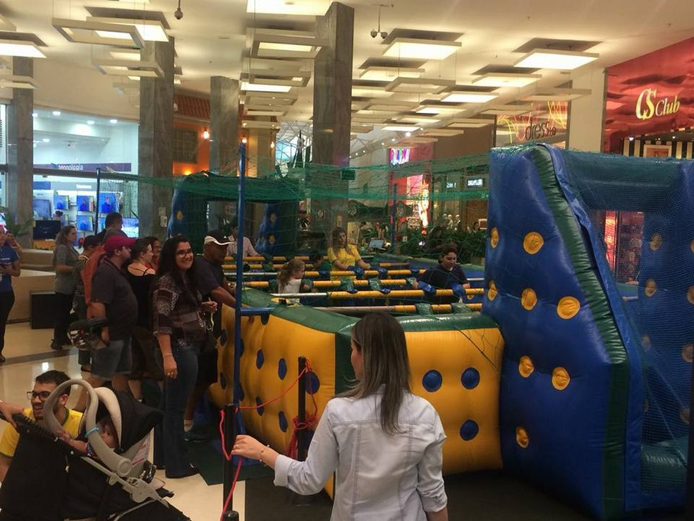 -  Série de brincadeiras ocorre no Shopping Uberaba  Foto: Shopping Uberaba/Divulgação