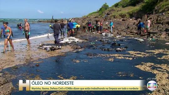 Cinco novas praias de Pernambuco foram atingidas pelo óleo nesta segunda-feira (21)