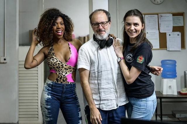 Karol Conka, José Eduardo Belmonte e Monica Iozzi (Foto: Ramon Vasconcelos/TV Globo)