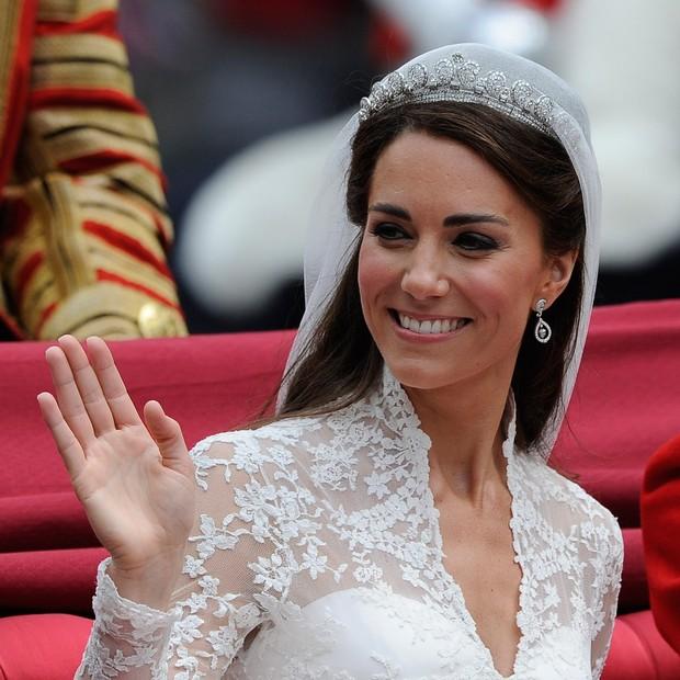 Kate Middleton em seu casamento, em 2011 (Foto: Getty Images)