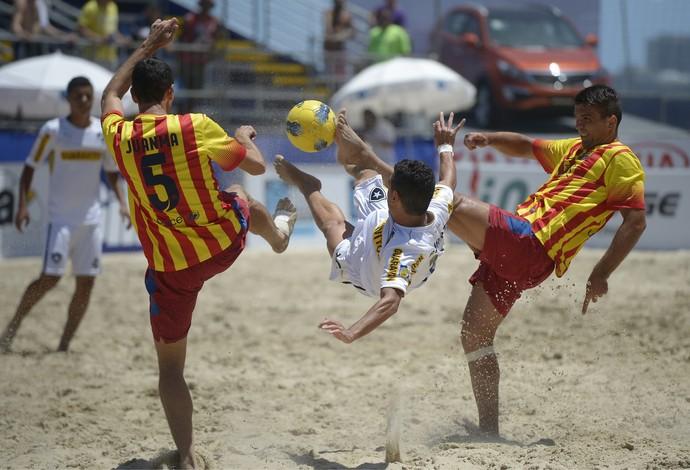 Barcelona vence o Botafogo pelo Mundialito de Clubes de futebol de areia (Foto: Divulgação)
