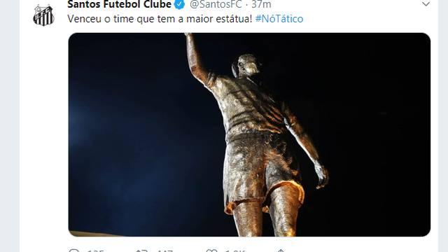 Santos provoca Grêmio em redes sociais