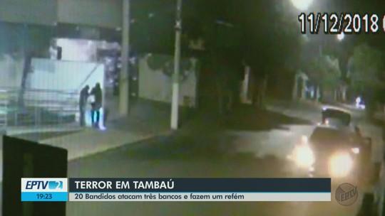 VÍDEO: Câmeras de segurança flagram quadrilha que explodiu agências bancárias em Tambaú