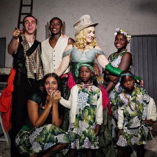 Madonna com os filhos (Foto: Reprodução/nstagram)