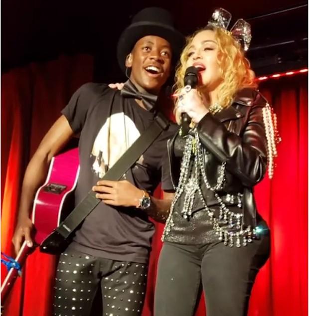 Madonna e o filho, David Banda (Foto: Reprodução/Instagram)