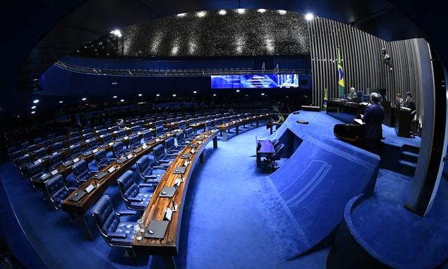 O plenário do Senado