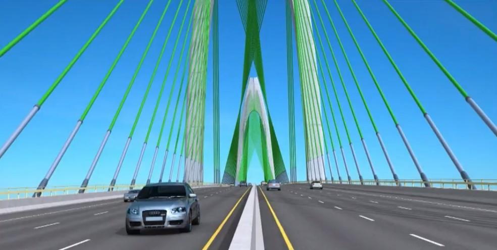 Assinatura do contrato de construção da Ponte Salvador–Itaparica terá prazo prorrogado — Foto: Reprodução/TV Bahia