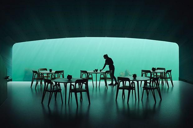 O Under é considerado o maior restaurante submerso do mundo (Foto: divulgação)