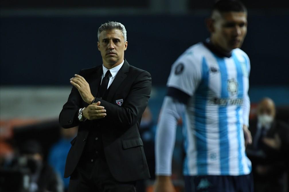 Hernan Crespo não perde mata-mata desde 2019 — Foto: Staff Images / CONMEBOL