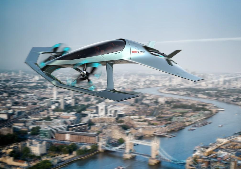 Volante Vision Concept é o esportivo voador de luxo da Aston Martin (Foto: Divulgação)