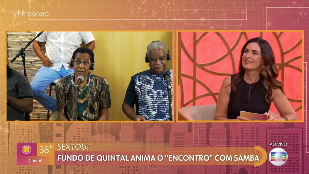 Fundo de Quintal anima o 'Encontro' com samba