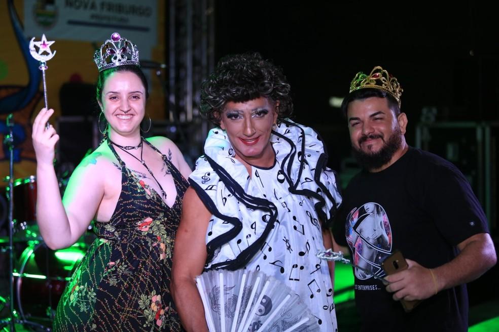"""Dupla ganhou o título de """"Gays Honorários"""" do Carnaval 2019 — Foto: Leonardo Vellozo/Ascom Friburgo"""