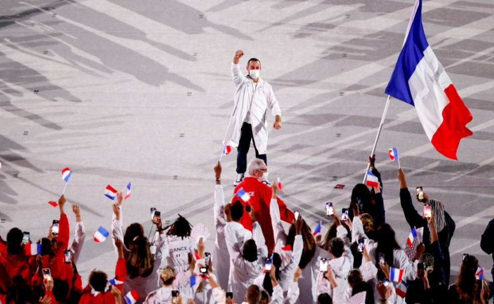 Delegação da França — Foto: @olympic