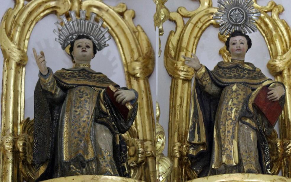 Imagens foram roubadas da Igreja do Bonfim, em Olinda — Foto: Igreja do Bonfim/Divulgação