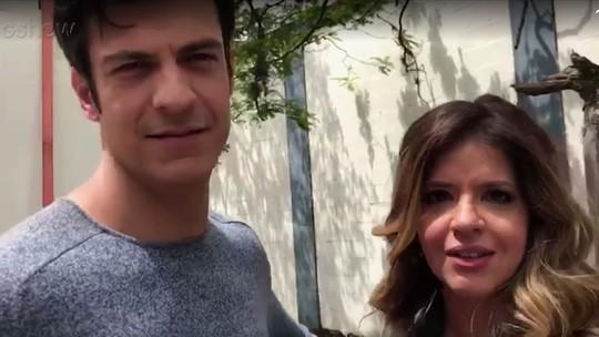 Mariana Santos e Mateus Solano comentam cena de 'Pega Pega'