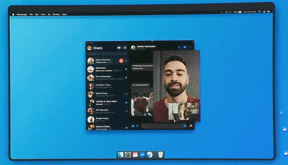 Novo Messenger para desktop — Foto: Reprodução/Facebook