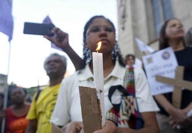 Ato em solidariedade às vítimas do desastre em Brumadinho (MG) (Foto: Cris Faga/NurPhoto via Getty Images)