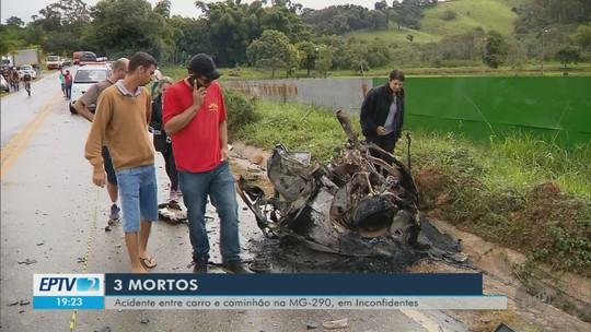 Polícia identifica vítimas de acidente da MG-290; mortos eram parentes de vereador