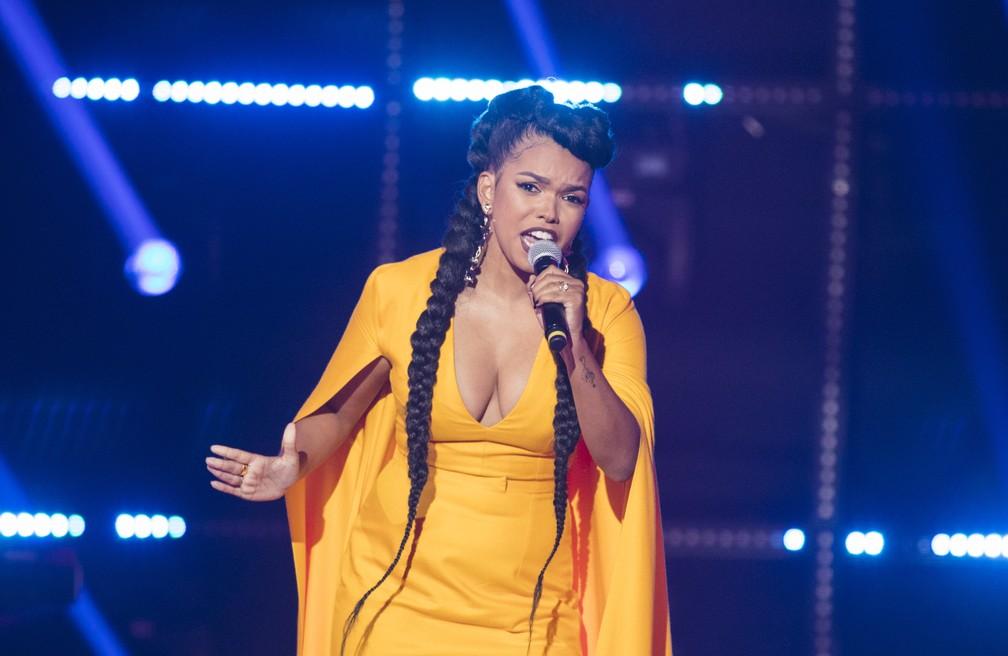 Jennifer Nascimento canta na semifinal do Popstar  Foto  GloboVictor Pollak