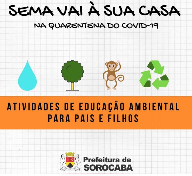 Projeto oferece atividades online sobre educação ambiental para crianças em Sorocaba