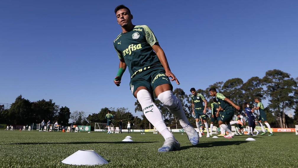 Gabriel Menino na Academia de Futebol do Palmeiras — Foto: Cesar Greco / Ag. Palmeiras