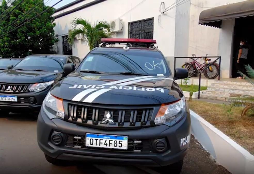 Vítima e suspeitos foram ouvidos pela Polícia Civil em Porto Velho — Foto: Governo de RO/Reprodução