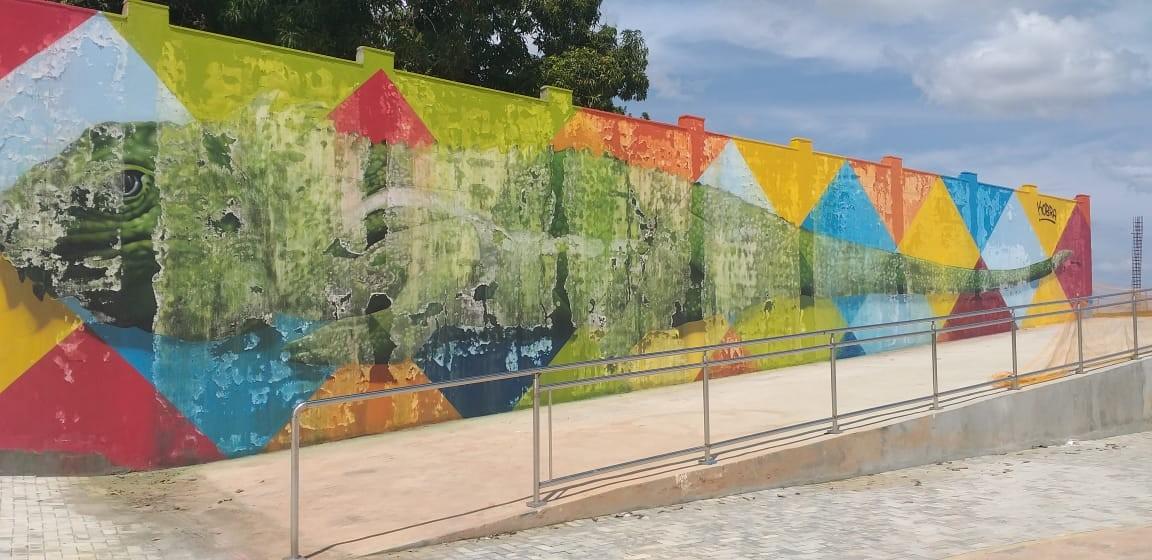 Kobra diz que é raro pintura derreter;  equipe dele irá restaurar obra de R$ 400 mil em Boa Vista