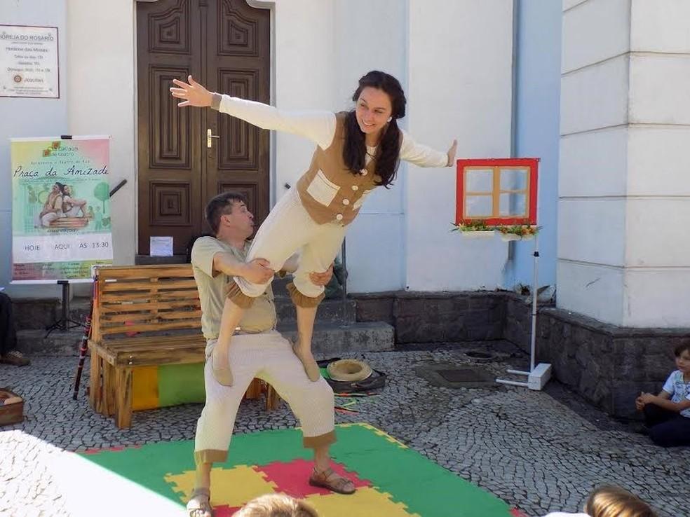 Praça da Amizade (Foto: Divulgação/Festival de Teatro)