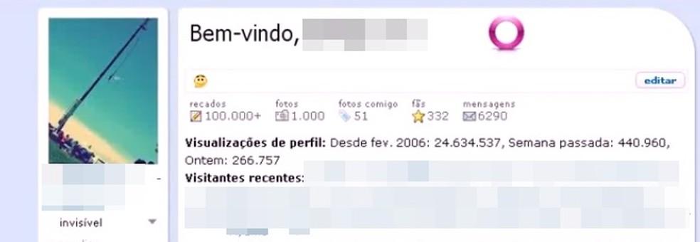 Orkut mostrava visitas recentes ao perfil do usuário (Foto: Reprodução/YouTube (Roberto Neto))