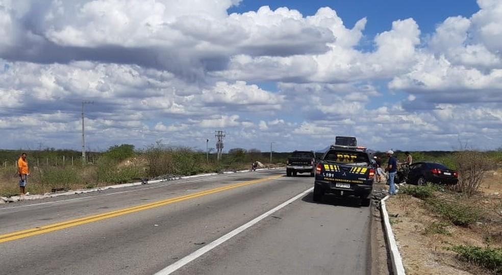 Acidente na BR-304 deixa quatro feridos — Foto: Cedida