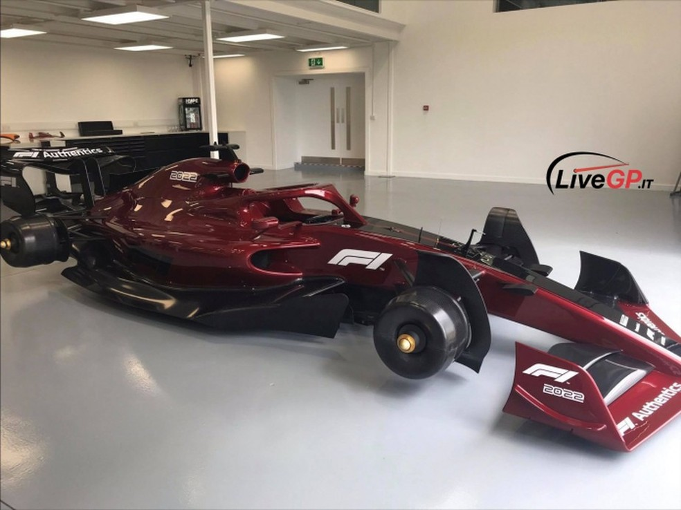 Fotos do carro de 2022 da F1 — Foto: LiveGP.it