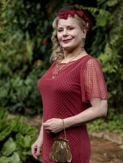 Vera Fischer será Gertrude em 'Espelho da vida' (Foto: Globo/ Paulo Belote)