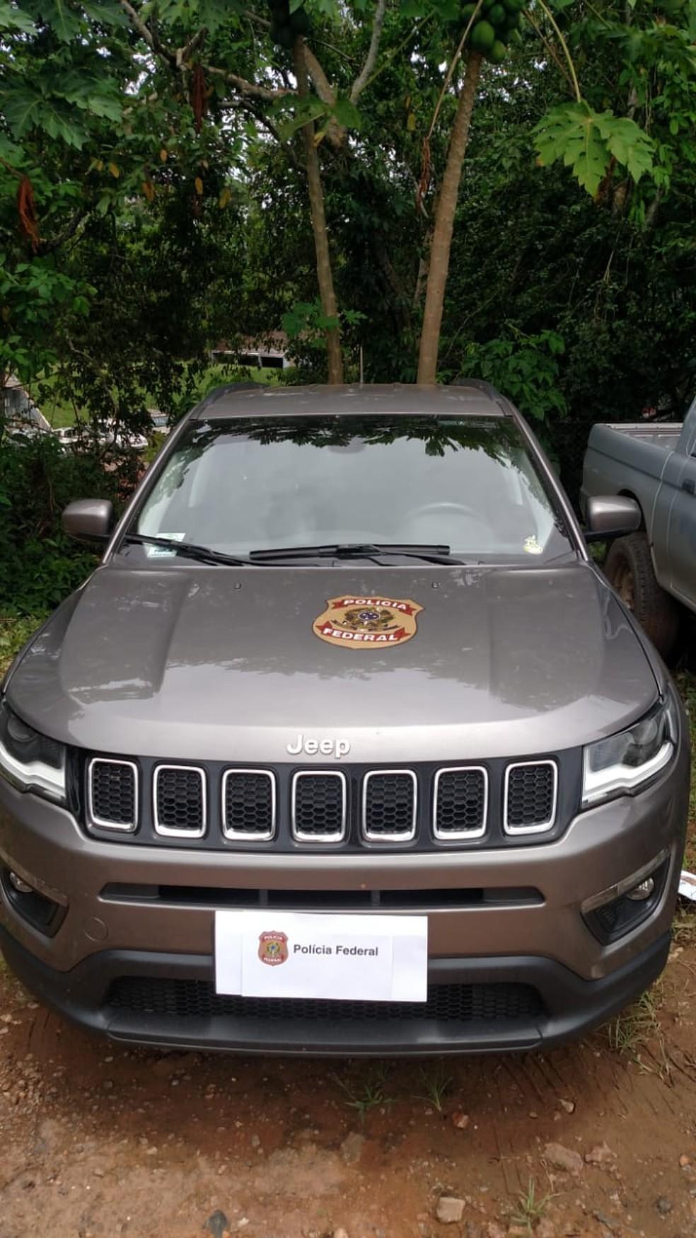 Carro de luxo apreendido na Operação Diarista — Foto: PF/Divulgação