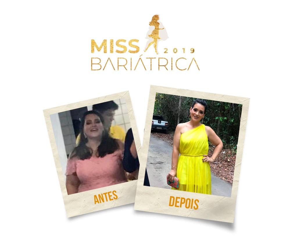 Luiza Cosme, 30 anos, finalista do Miss Bariátrica — Foto: Divulgação