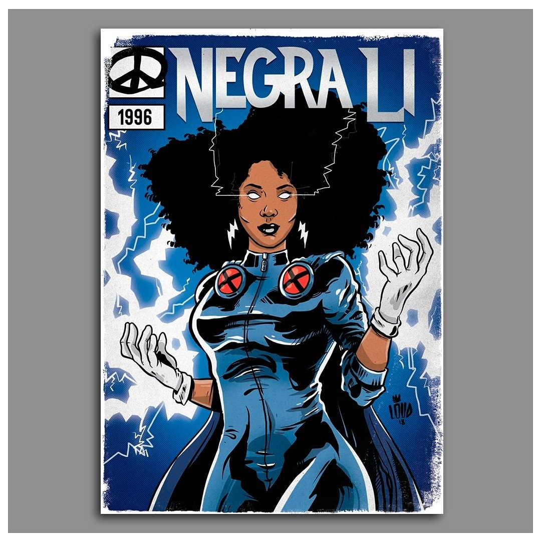 Negra Li como Tempestade (Foto: LØAD/Wagner Loud)