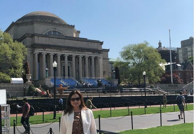 Fernanda Lopes de Macedo Thees na Universidade de Columbia (Foto: ARQUIVO PESSOAL/FERNANDA LOPES DE MACEDO THEES)
