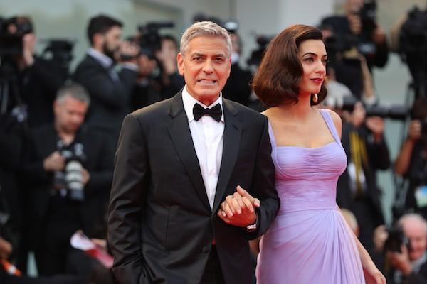 O ator George Clooney com a esposa, a advogada Amal Clooney (Foto: Getty Images)