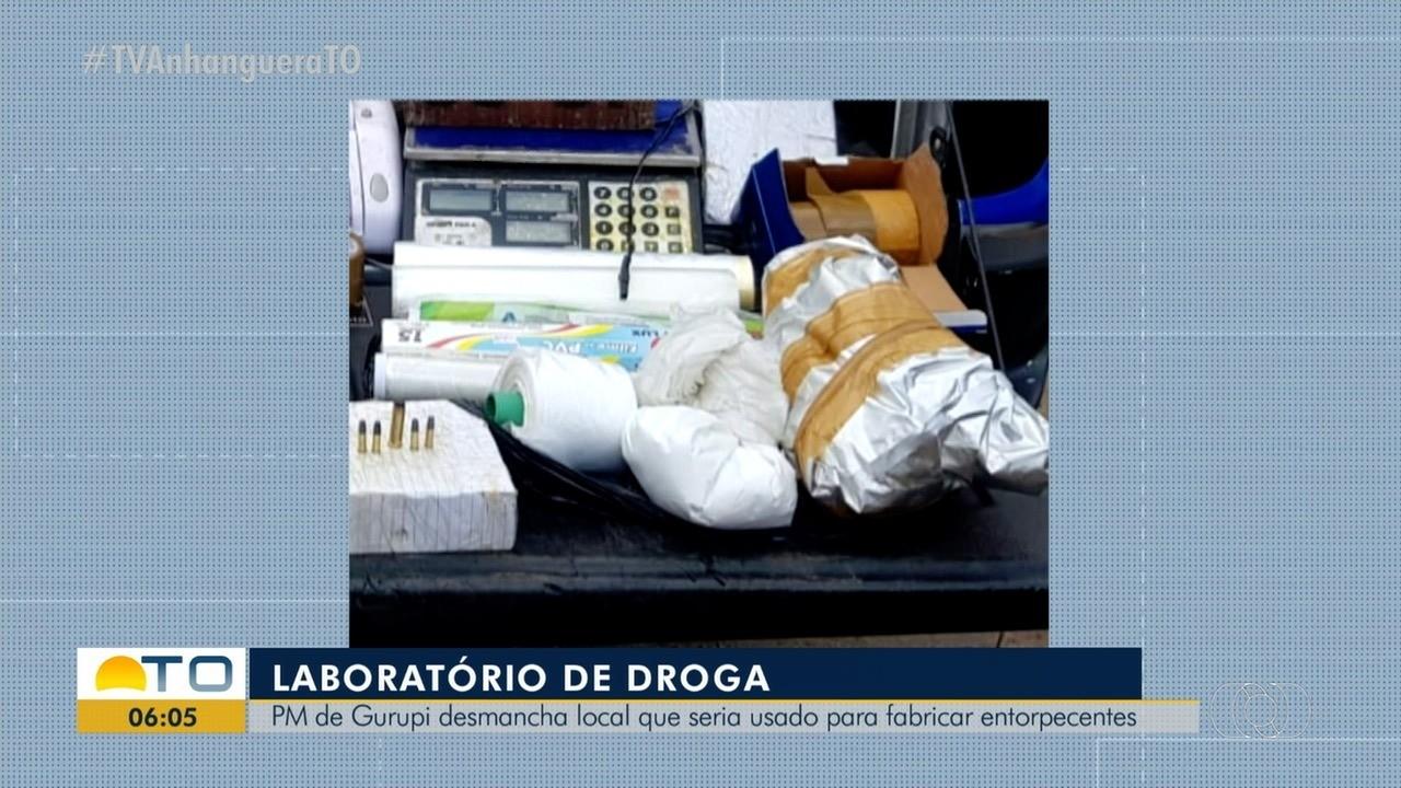 Laboratório de drogas é desmanchado pela PM em Gurupi