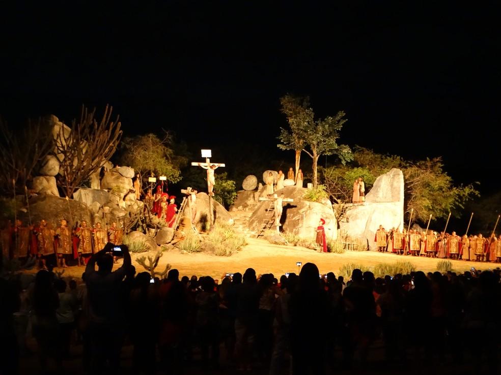 Espetáculo da Paixão de Cristo 2018 irá ocorrer de 24 a 31 de março (Foto: Joalline Nascimento/G1)