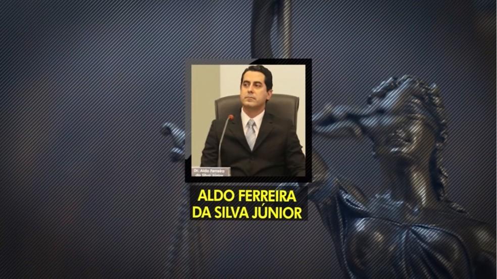 Juiz Aldo Ferreira da Silva Júnior enfrenta outra denúncia, desta vez de venda de sentenças judiciais — Foto: TV Morena/Reprodução