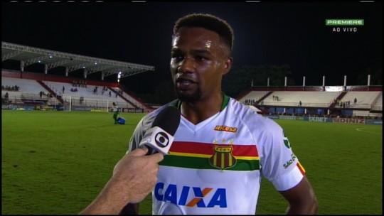 """Maracás comemora gol que tirou Sampaio do Z-4 e não esconde: """"Era improvável"""""""
