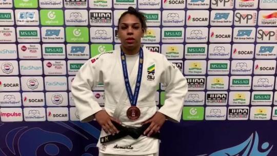 Judocas brasileiros conquistam dois bronzes no último dia do Grand Prix de Haia