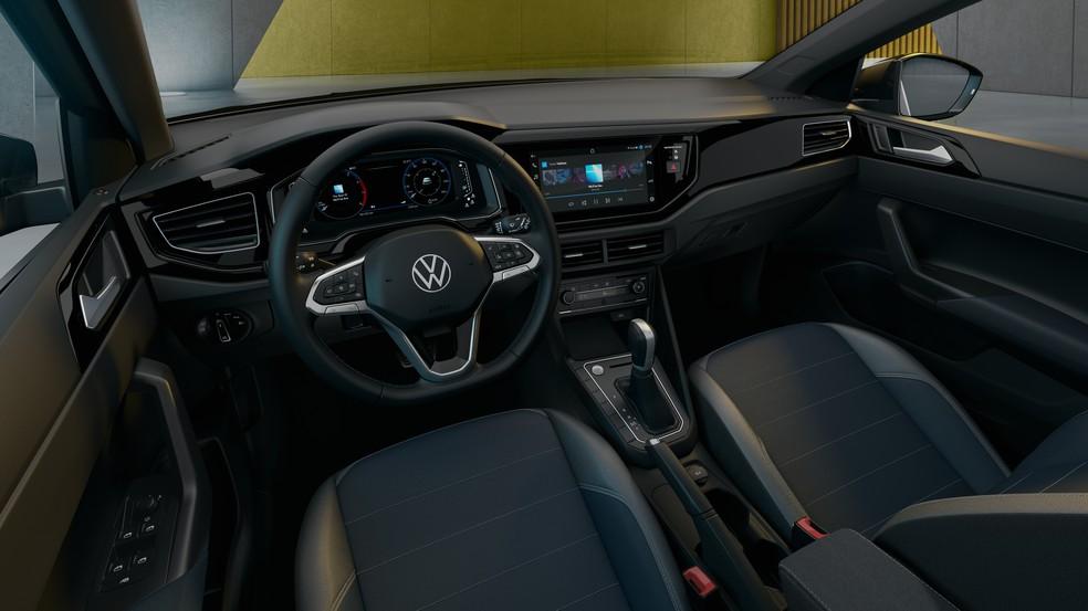 Interior do Volkswagen Nivus — Foto: Divulgação/Volkswagen
