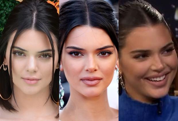 Kendall Jenner em junho de 2017, maio de 2018 e setembro de 2018 (Foto: Getty Images e Reprodução)